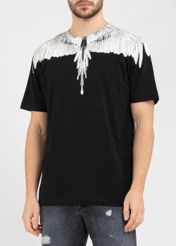 Черная футболка Marcelo Burlon с крыльями, фото