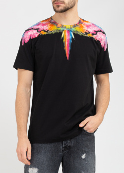Черная футболка Marcelo Burlon с изображением крыльев, фото