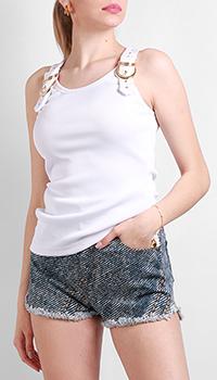 Топ Versace Jeans Couture белого цвета, фото