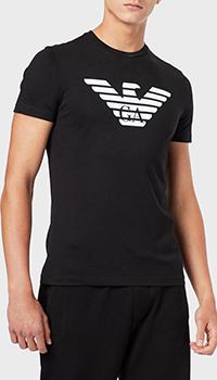Черная футболка Emporio Armani с объемным логотипом, фото