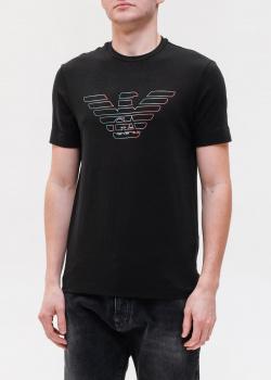 Черная футболка Emporio Armani с принтом орла, фото
