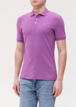 Мужское поло Emporio Armani фиолетового цвета, фото