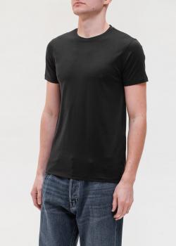 Черная футболка Emporio Armani с шелком, фото