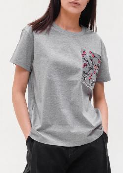 Серая футболка Emporio Armani свободного кроя, фото