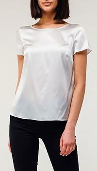Шелковая футболка Emporio Armani белого цвета, фото