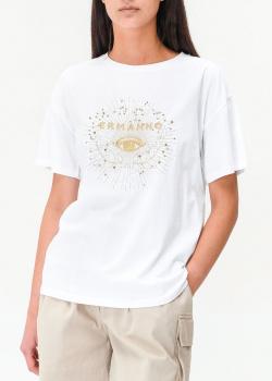 Белая футболка Ermanno Ermanno Scervino с вышивкой, фото