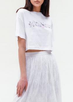 Укороченная футболка Ermanno Ermanno Scervino с принтом, фото