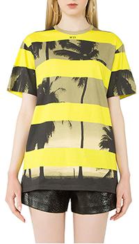 Желтая футболка N21 с рисунком, фото