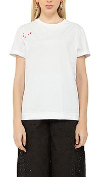 Белая футболка Vivetta с принтом, фото