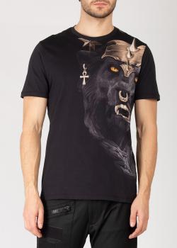 Мужская футболка Frankie Morello со львом, фото
