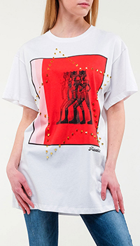 Белая футболка Frankie Morello свободного кроя, фото