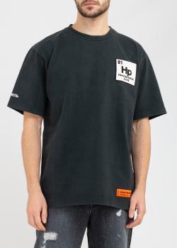 Черная футболка Heron Preston с принтом, фото