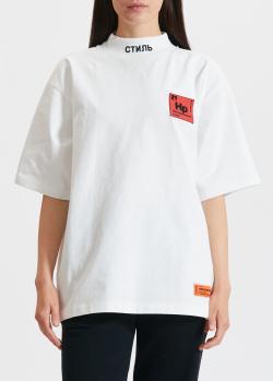 Белая футболка Heron Preston с нашивкой-лого, фото