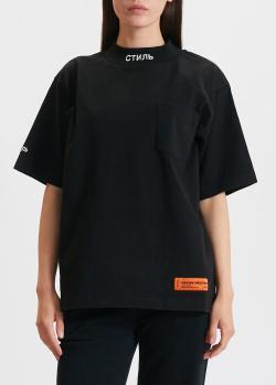 Женская футболка Heron Preston с воротником-стойкой, фото