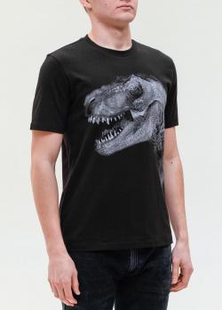 Черная футболка Hugo Boss с динозавром, фото