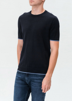 Черная футболка Hugo Boss с шелком, фото