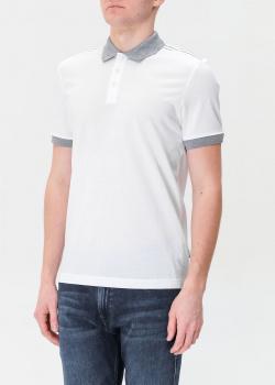 Мужское поло Hugo Boss белого цвета, фото