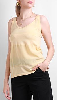 Топ из шелка Max&Moi желтого цвета, фото