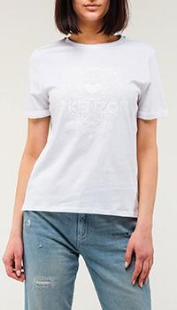Женская футболка Kenzo белого цвета, фото