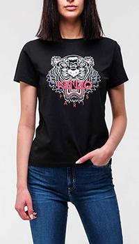 Черная футболка Kenzo с тигром, фото
