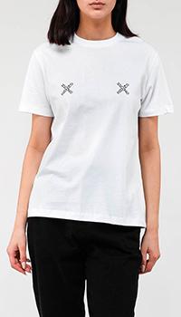 Женская футболка Kenzo с перекрестным лого, фото