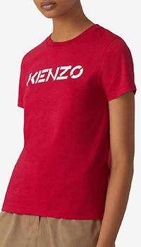 Футболка с логотипом Kenzo цвета фуксии, фото