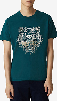 Хлопковая футболка Kenzo с принтом в виде тигра, фото