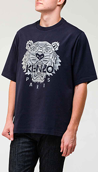 Синяя футболка Kenzo с тигром, фото