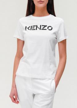 Футболка из хлопка Kenzo с логотипом, фото