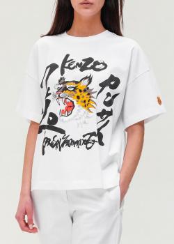 Белая футболка Kenzo свободного кроя, фото