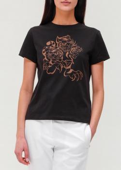 Черная футболка Kenzo с изображением тигров, фото