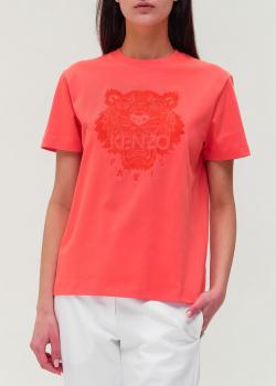 Красная футболка Kenzo с вышитым тигром, фото