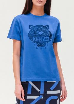 Синяя футболка Kenzo с изображением тигра, фото