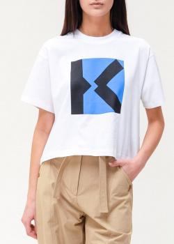 Укороченная футболка Kenzo свободного кроя, фото