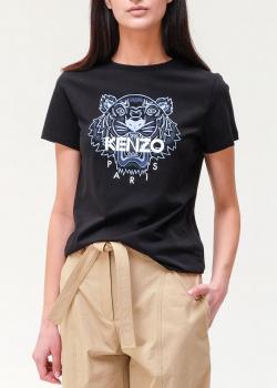 Футбока из хлопка Kenzo с фирменным рисунком, фото