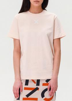 Розовая футболка Kenzo с логотипом на спине, фото