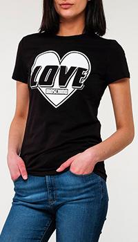 Футболка Love Moschino с принтом, фото