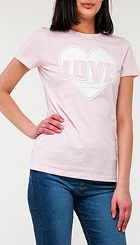 Футболка Love Moschino розового цвета, фото