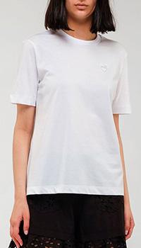 Однотонная футболка Love Moschino из хлопка, фото
