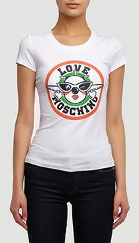 Белая футболка Love Moschino из хлопка, фото