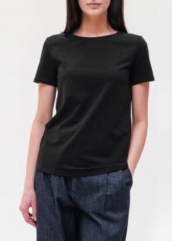 Хлопковая футболка Max Mara Weekend черного цвета, фото