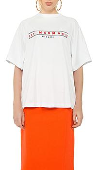 Женская футболка MSGM белого цвета, фото