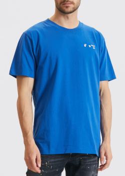 Синяя футболка Off-White с логотипом, фото