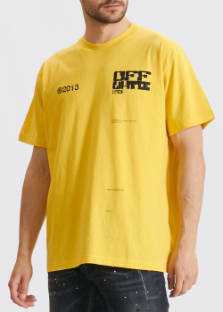 Желтая футболка Off-White Tech Marker Arrows, фото