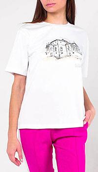Хлопковая футболка Peserico белого цвета, фото