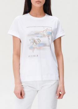 Белая футболка Peserico с принтом в виде ангелов, фото