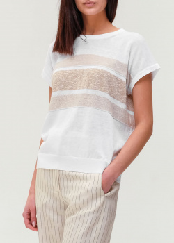 Белая футболка Peserico свободного кроя, фото