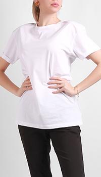 Хлопковая футболка Silvian Heach с подплечниками, фото