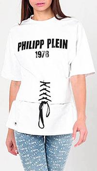 Футболка Philipp Plein с поясом-корсетом, фото