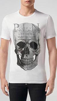 Мужская футболка Philipp Plein с камнями и рисунком, фото